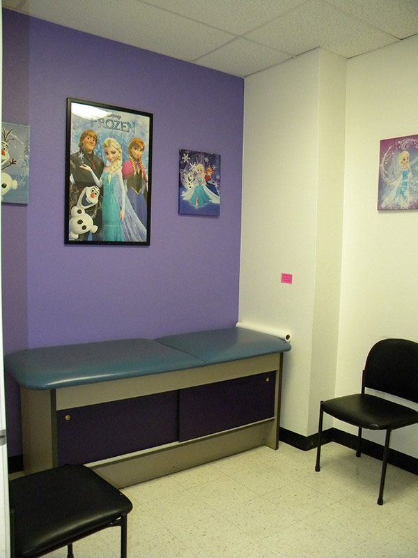 Fun and friendly pediatric office exam rooms
