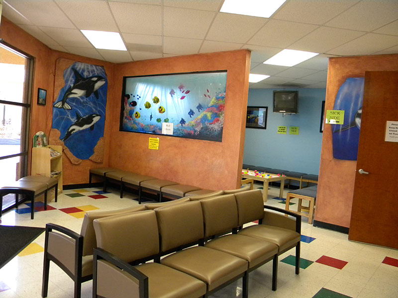 separate waiting room for sick patients